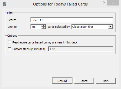 Options for Today's Failed Cards